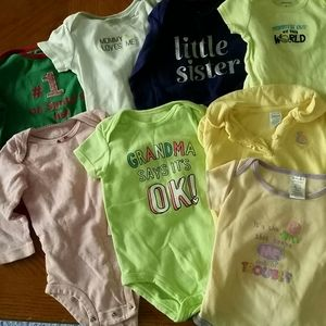 8 pieces Carters onesie with snaps